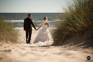 Annemarie und Marc am Strand von Zinnowitz