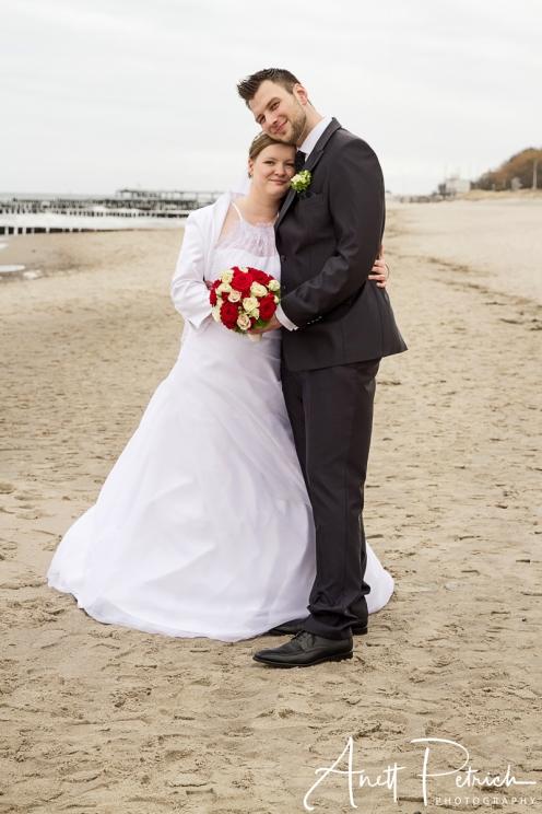 Brautpaar in Kühlungsborn an der Ostsee